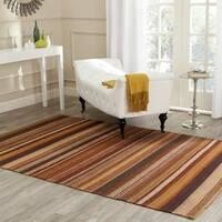 Safavieh Hand-Woven Kilim Rust Wool Rug - 7' x 7' Square