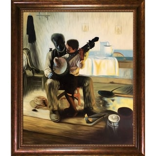 Henry Ossawa Tanner 'The Banjo Lesson' Hand Painted Framed Canvas Art