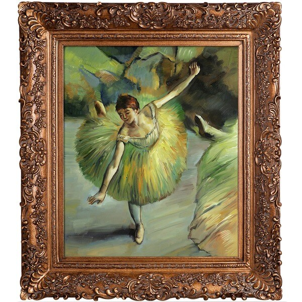 Edgar Degas 'Dancer Tilting'  Hand Painted Framed Canvas Art