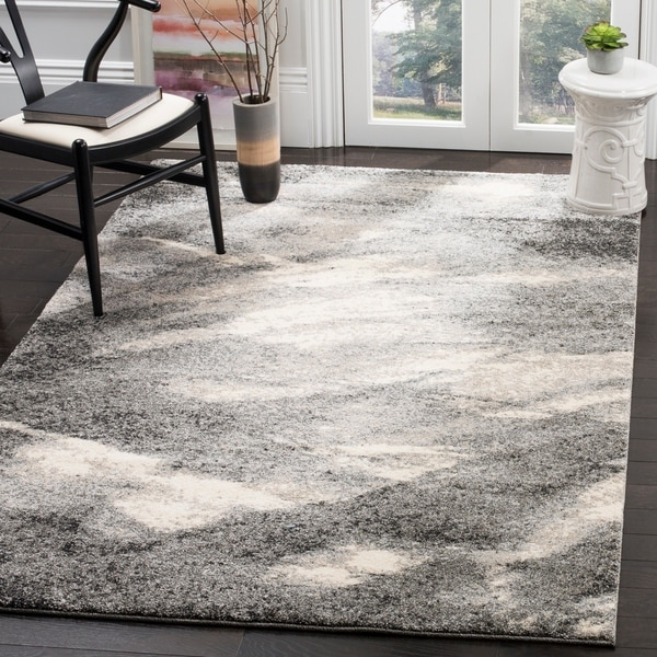 Safavieh Retro Mid-Century Modern Abstract Grey/ Ivory Rug - 11' x 15'