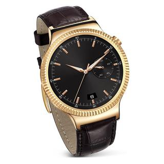 HUAWEI 55020534 Smart Watch - Rose Gold Plated Steel/Brown Leather Strap