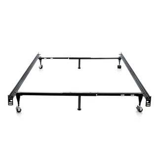 Structures by Malouf Heavy Duty 6-leg Adjustable Metal Full/ Twin Bed Frame with Wheels