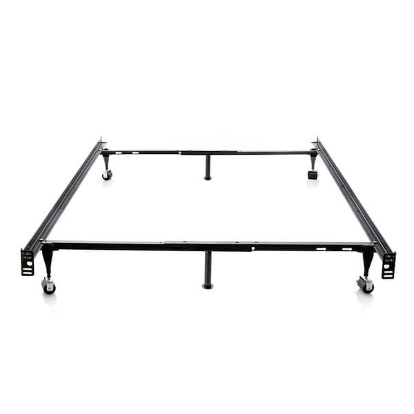 Shop Brookside Black Metal Full/ Twin Heavy-duty 6-leg Adjustable ...