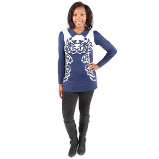 Hadari Women's Autumnal Sweater Tunic Dress