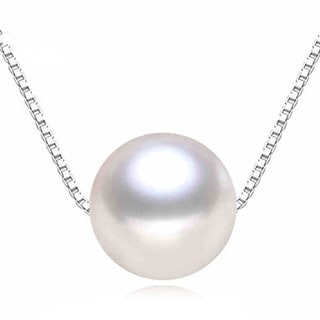 Sterling Silver Shell Pearl Necklace (16 mm)