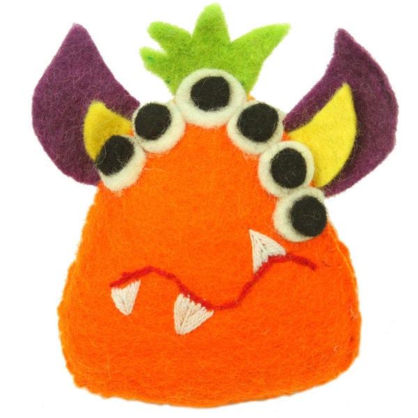 Handmade Orange Tooth Monster with Many Eyes - Global Groove (Nepal)