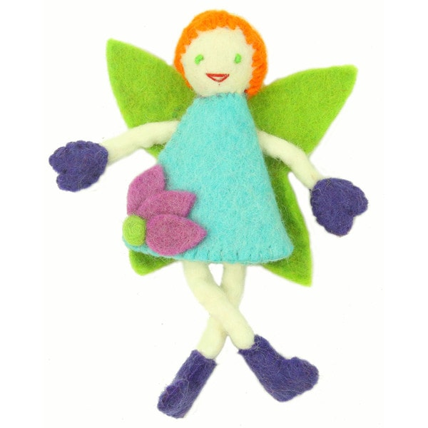Handmade Tooth Fairy - Red Hair with Blue Dress - Global Groove (Nepal)