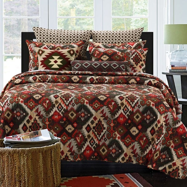Greenland Home Fashions Folk Festival Rustic Oversized Cotton 3-piece Quilt Set