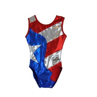 Kids' Flag Gymnastics Leotard