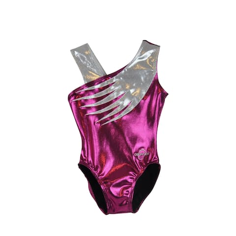 Obersee Girl's Girls Gymnastics Leotard - Pink Feather