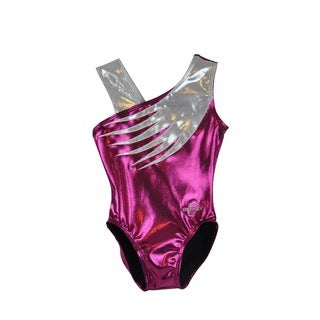 Kids' Pink Feather Gymnastics Leotard