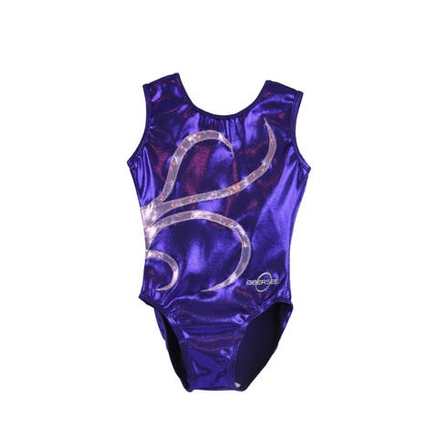 Obersee Girl's Girls Gymnastics Leotard - Purple Strands