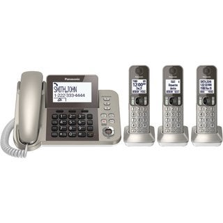 Panasonic KX-TGF353N DECT 6.0 Plus Corded/ Cordless Landline Phone System (Refurbished)