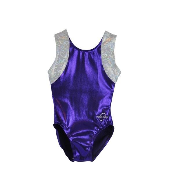 Obersee Kid's Cross Back Purple Gymnastics Leotard