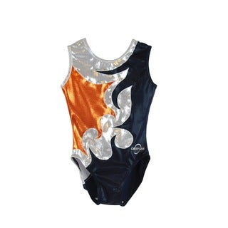 Obersee Kid's Mia Navy Gymnastics Leotard