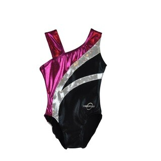 Obersee Kid's Black Arcs Gymnastics Leotard