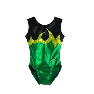 Kids' Ace Green Gymnastics Leotard