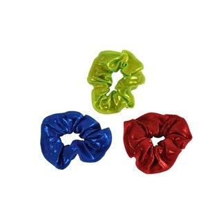 Obersee Kid's Red/ Blue/ Lime Hair Tie 3-Pack