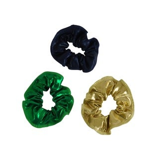Kids' Gold/ Green/ Navy Hair Tie (Pack of 3)