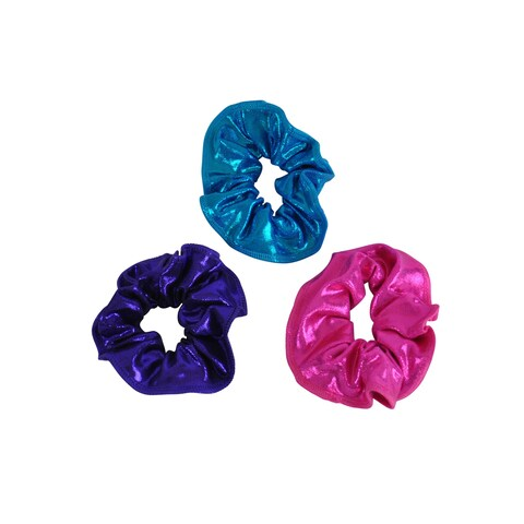 Kids' Pink/ Purple/ Turquoise Hair Tie (Pack of 3)