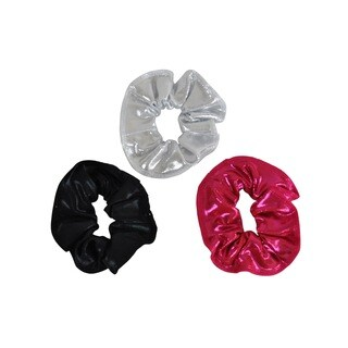 Kids' Silver/ Black/ Berry Hair Tie (Pack of 3)