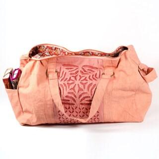 Handmade Kaila Applique Duffel Bag (India)