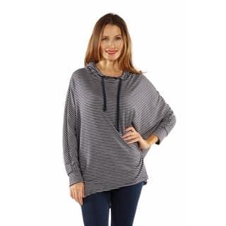 24/7 Comfort Apparel Women's Dolman Sleeve Striped Hoodie https://ak1.ostkcdn.com/images/products/10772736/P17823264.jpg?impolicy=medium