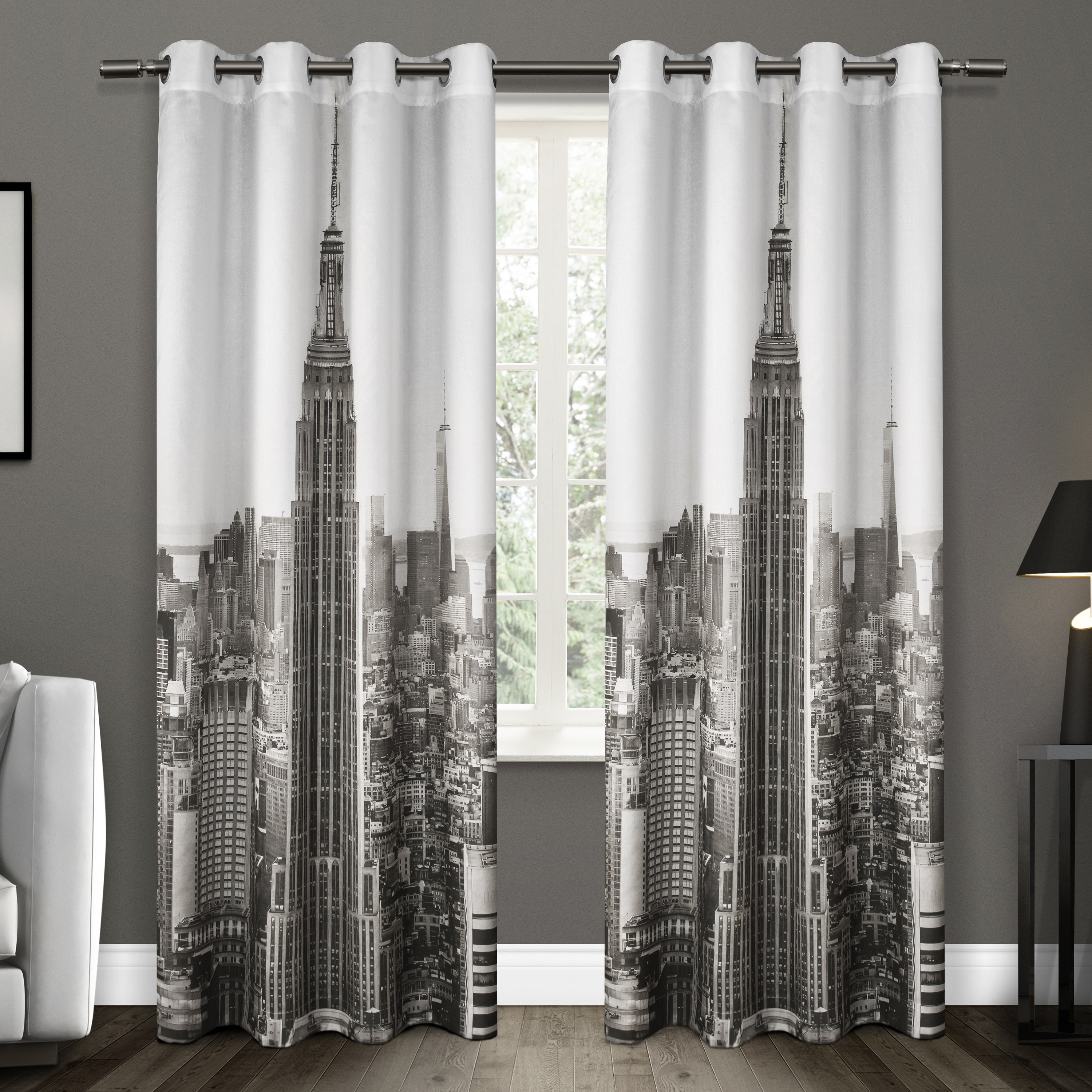 Shop Ati Home Manhattan Grommet Top Curtain Panel Pair