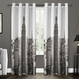 ATI Home Manhattan Grommet Top Curtain Panel Pair