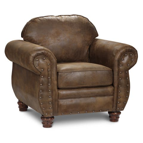 Brown Faux Leather Sedona Chair
