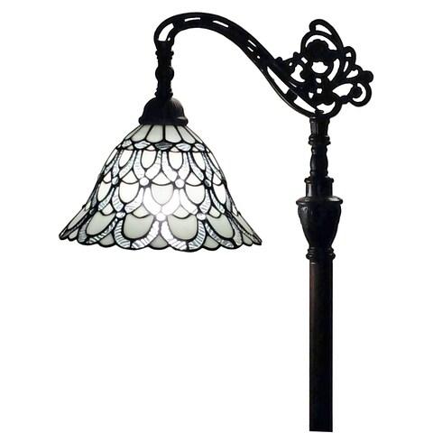 Amora Lighting AM107FL11 62-inch Tiffany-style White Reading Floor Lamp