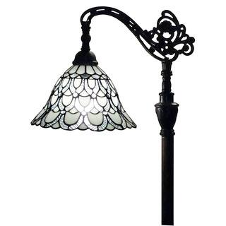 Amora Lighting AM107FL11 62-inch Tiffany-style White Reading Floor Lamp|https://ak1.ostkcdn.com/images/products/10772786/P17823307.jpg?impolicy=medium