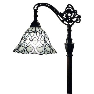 Amora Lighting AM107FL11 62-inch Tiffany-style White Reading Floor Lamp