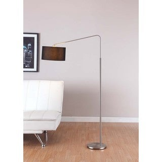 Artiva USA '80-degrees' 64-inch Medium Arch Brushed Steel Floor Lamp