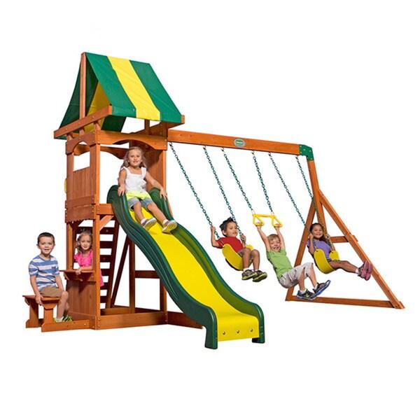Shop Backyard Discovery Weston All Cedar Swing Set Play Set Free