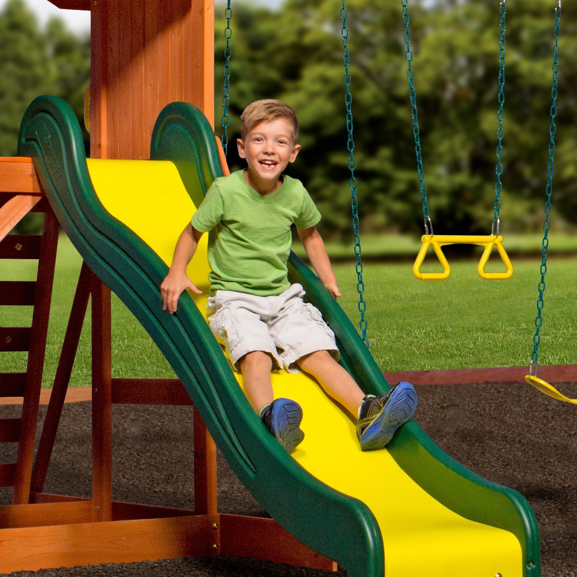 Backyard Discovery Weston Swing Set - House Backyards