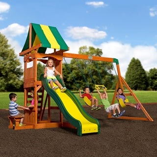 Backyard Discovery Weston All Cedar Swingset
