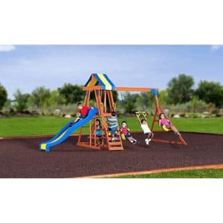 Backyard Discovery Yukon III All Cedar Wood Swingset|https://ak1.ostkcdn.com/images/products/10772802/P17823322.jpg?impolicy=medium