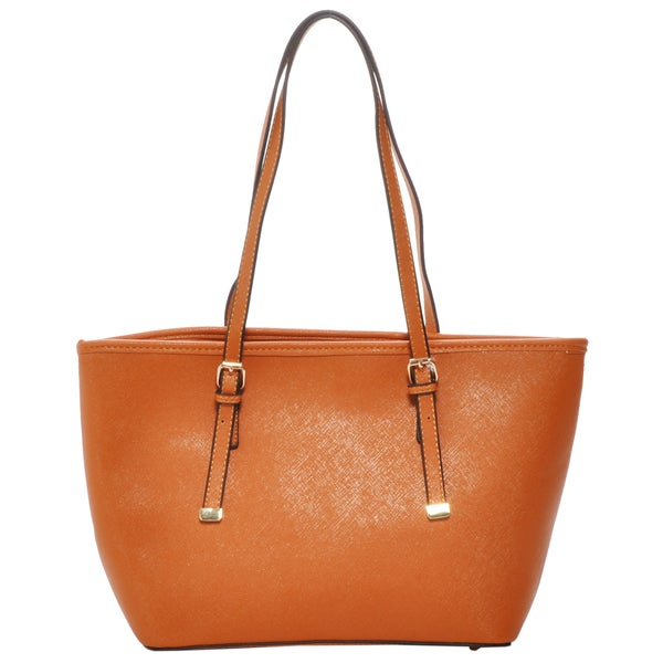 6f05dcc58ace Shop Mechaly Women s Sandy Brown Vegan Leather Mini Tote Handbag - Free  Shipping Today - Overstock - 10772821