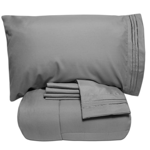 Luxury Lightweight Solid 5-piece Bed-In-a-Bag with Sheet Set