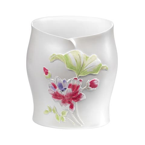 Hand Crafted Floral Bath Accessory Collection Set or Separates