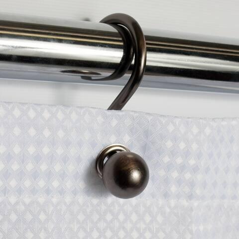 Rust Resistant Bronze Orb Ball Shower Hook Set (Set of 12)