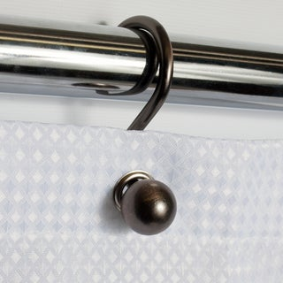 Rust Resistant Bronze Orb Ball Shower Hook Set (Set of 12)