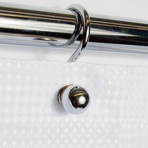 Rust Resistant Chrome Ball Shower Hook Set (Set of 12)