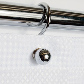 Rust Resistant Chrome Ball Shower Hook Set (Set of 12)