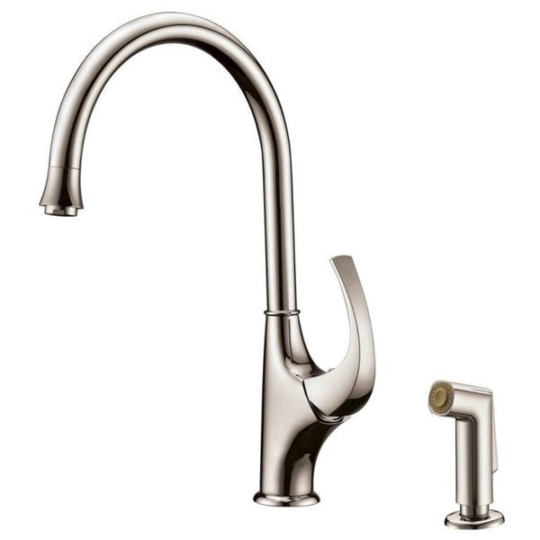 Shop Dawn Brushed Nickel Single Lever Kitchen Faucet With Side Spray