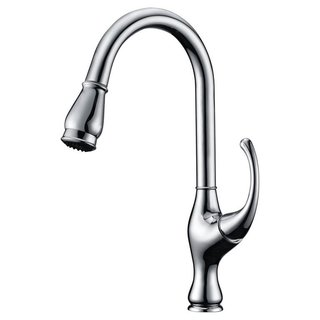 Dawn Chrome Single-lever Pull-out Kitchen Faucet