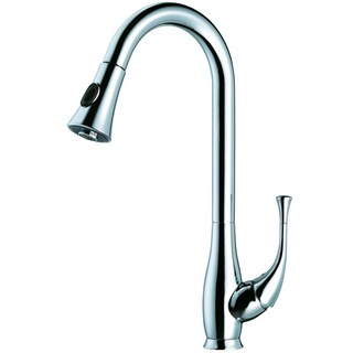 Dawn Chrome Single Lever Kitchen Faucet with Push Button Pull Out Spray
