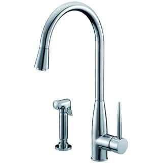 Dawn Chrome Single-lever Kitchen Faucet with Side-spray