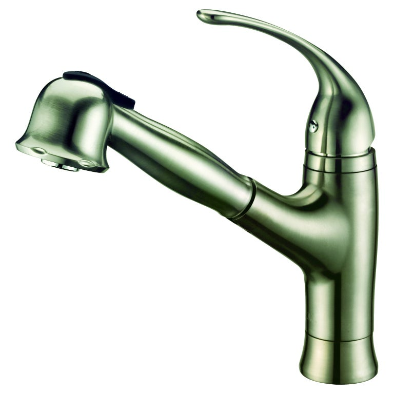Dawn Brushed Nickel Single Lever Pull Out Spray Kitchen Faucet